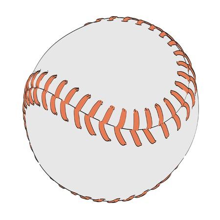 2d: 2d cartoon illustration of softball ball