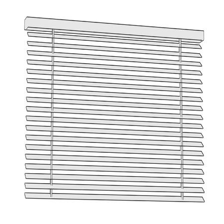 blinds: 2d cartoon illustration of windows blinds Stock Photo