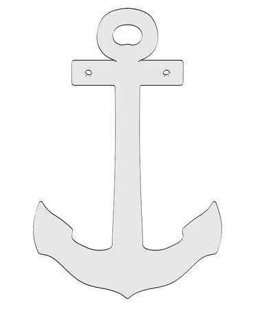 2d: 2d cartoon illustration of ship anchor