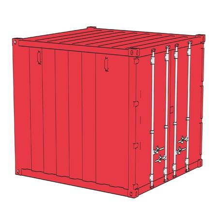 illustraion: 2d cartoon illustraion of cargo containers