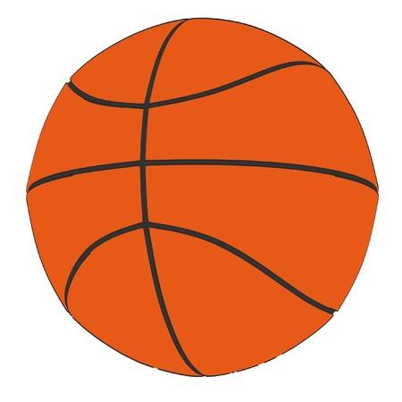 2d: 2d cartoon illustration of basketball Stock Photo