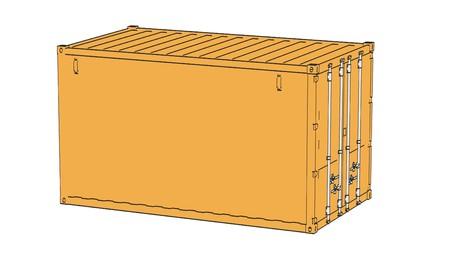 shipyard: 2d cartoon illustraion of cargo containers