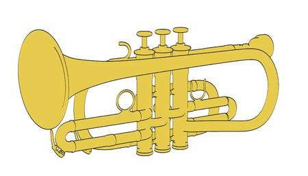 illustraion: 2d cartoon illustraion of cornet