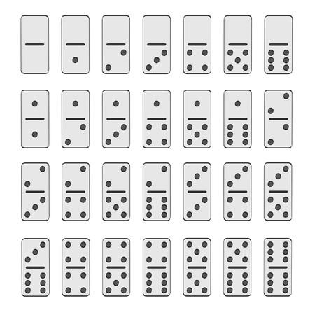 dominoes: 2d cartoon illustration of domino game