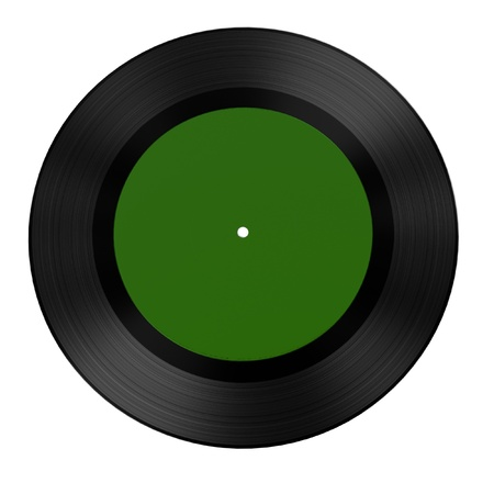 render: 3d render of audio record (vinyl) Stock Photo