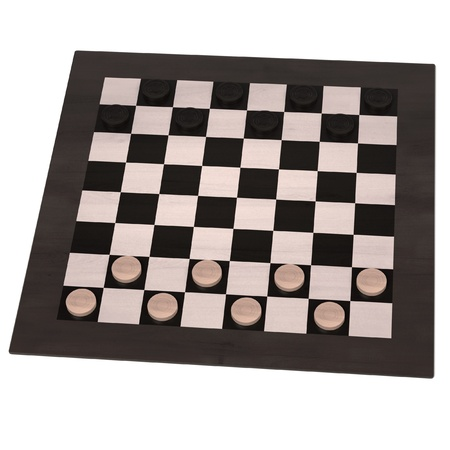 childern: 3d rendering of checkers game