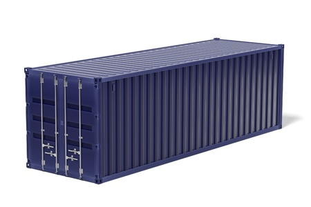 cargo container: 3d rendering of cargo container Stock Photo
