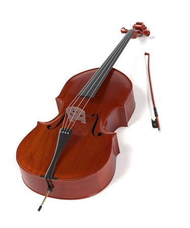 contrabass: 3d rendering of bass - musical instrument Stock Photo