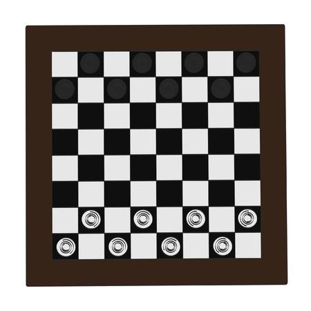 illustraion: 2d cartoon illustraion of checkers