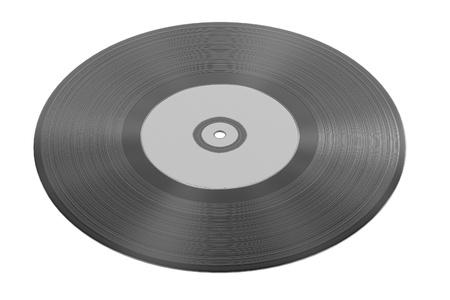lp: 3d render of audio record (vinyl) Stock Photo