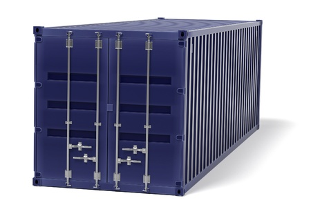 shipyard: 3d rendering of cargo container Stock Photo