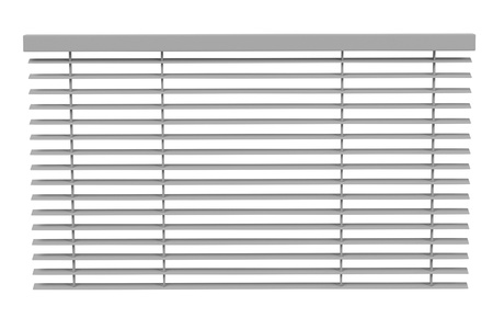 3d rendering of windows blinds Stock Photo