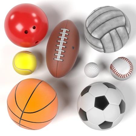 rendering: 3d rendering of balls