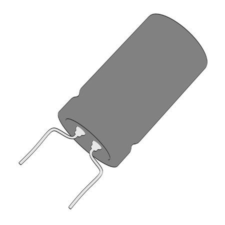 capacitor: 2d cartoon illustraion of capacitor