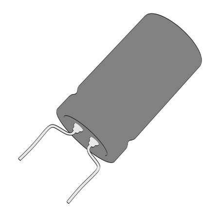 illustraion: 2d cartoon illustraion of capacitor