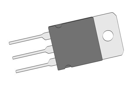 microprocessor: 2d cartoon illustration of transistor
