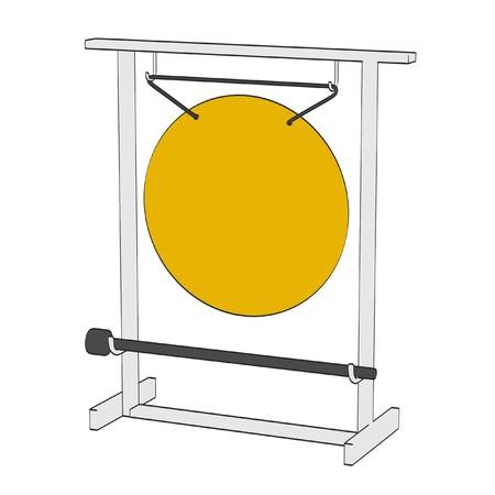 2d: 2d cartoon illustration of gong