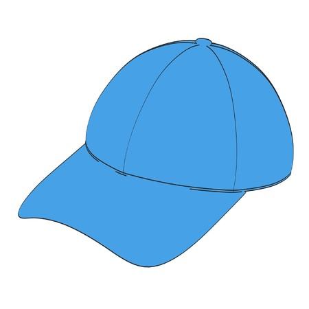 toons: 2d cartoon illustration of baseball cap