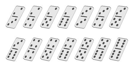 childern: 2d cartoon illustration of domino game