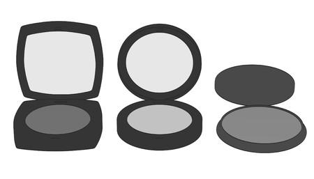 2d: 2d cartoon illustration of cosmetics (shades)