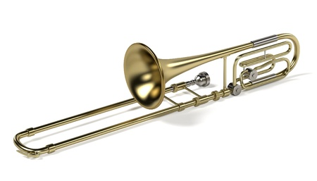 trombon: representaci�n 3D de tromb�n bajo