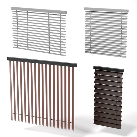 courtain: 3d rendering of windows blinds Stock Photo