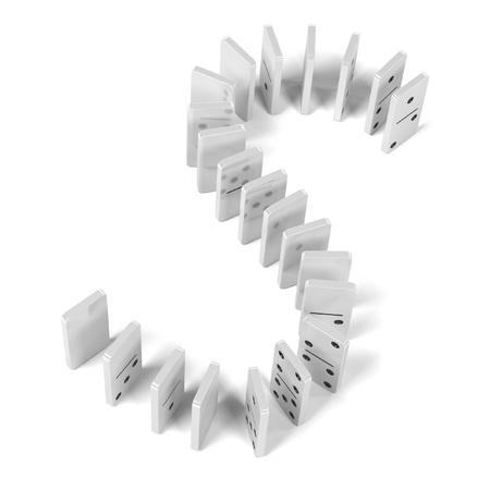 dominoes: 3d rendering of domino set