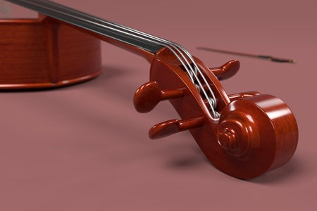 contrabass: 3d rendering of bass - musical instrument Stock Photo