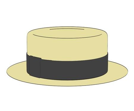 fedora: 2d cartoon illustration of hat