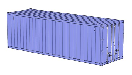 2d: 2d cartoon illustraion of cargo containers