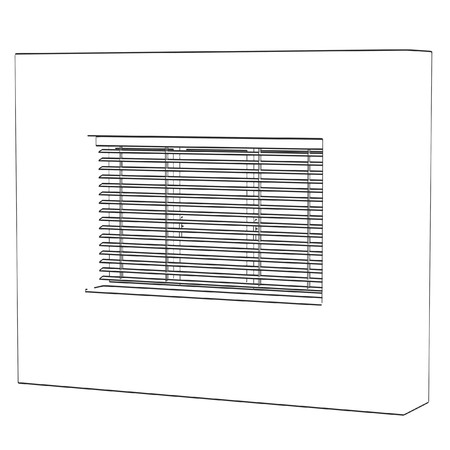 courtain: 2d cartoon illustration of blind and windows