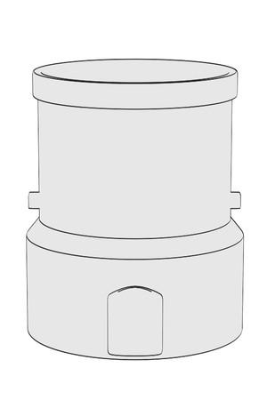 destilacion: 2d ilustración de dibujos animados de Aparatos de destilación Foto de archivo