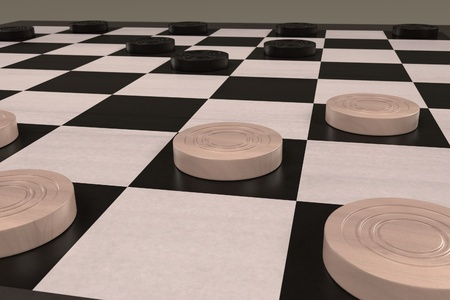 desk toy: 3d rendering of checkers game