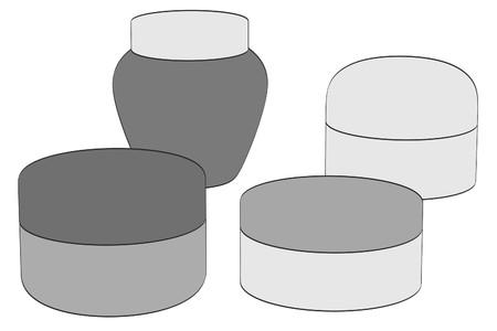 2d: 2d cartoon illustration of cremes