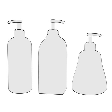 2d: 2d cartoon illustration of lotions Stock Photo