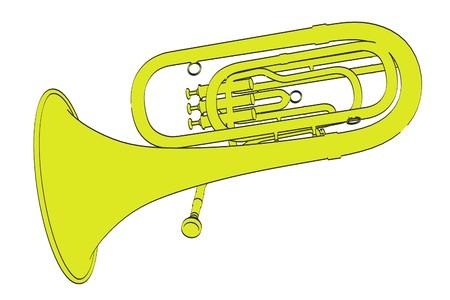 2d: 2d cartoon illustration of tuba