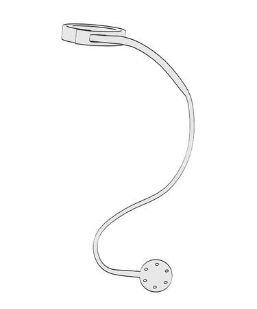 bowel surgery: 2d cartoon illustration of gastric band