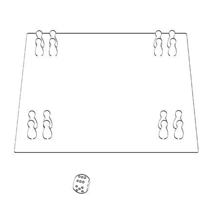 childern: 2d cartoon illustration of ludo Stock Photo