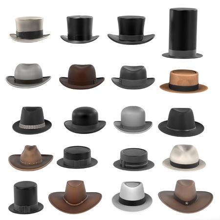 renderings: 3d renderings of male hats
