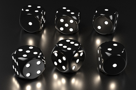 backgammon: 3d rendering of playing dices Stock Photo