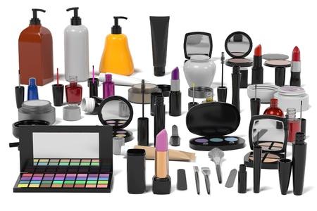 3d rendering of cosmetics set