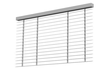 sunblind: 3d rendering of windows blinds Stock Photo