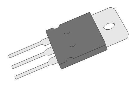 micro chip: 2d cartoon illustration of transistor