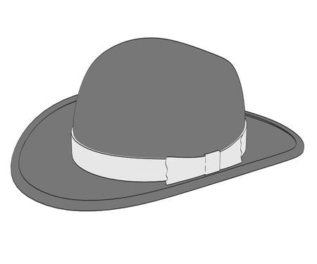 2d cartoon illustration of hat