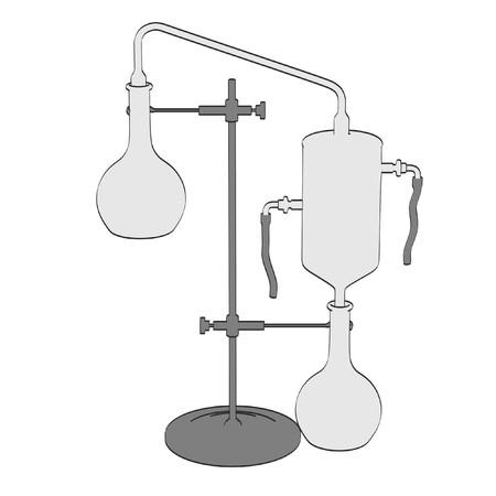 alchemy: 2d cartoon illustration of alchemy tool