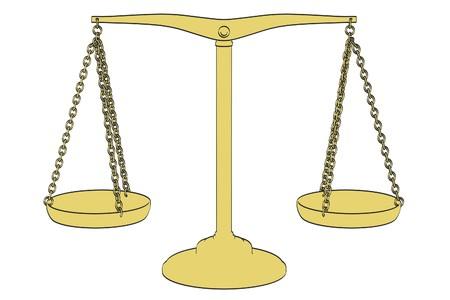 alquimia: 2d ilustraci�n de dibujos animados de las escalas de alquimia