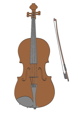 2d: 2d cartoon illustration of viola
