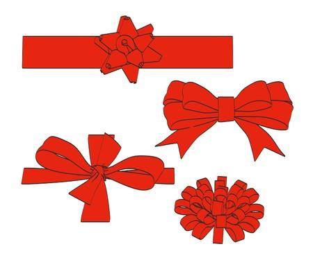 2d: 2d cartoon illustration of ribbons