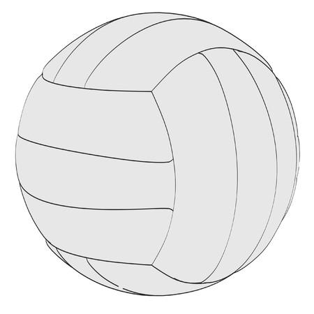 2d: 2d cartoon illustration of volleyball