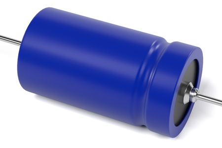 capacitor: 3d rendering of capacitor electronic part